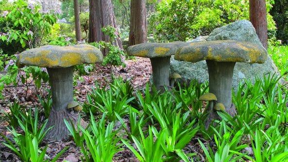 Toadstool shaped garden sculpture from Barbara Israel