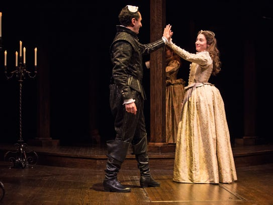 Antoine Yared (as Romeo) and Sara Farb (as Juliet)