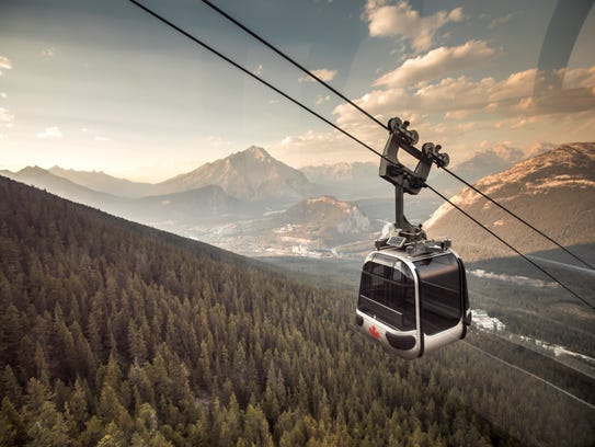 The four-passenger Banff Sightseeing Gondola offers