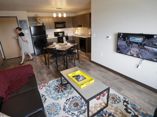 Inside view of the common area of a four bedroom apartment
