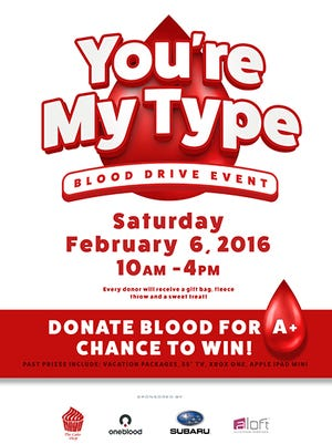The Proctor Subaru You're My Type Blood Drive Event.