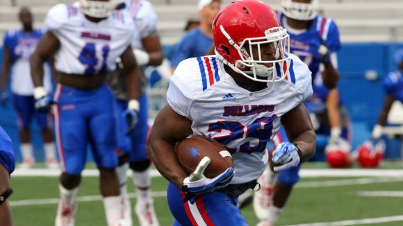 Louisiana Tech running back Dee Fleming had a 75-yard touchdown during Friday's scrimmage.