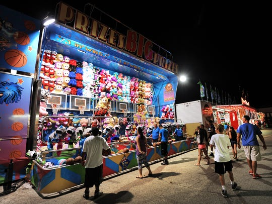 It's midnight on the Midway at the Indiana State Fairgrounds.