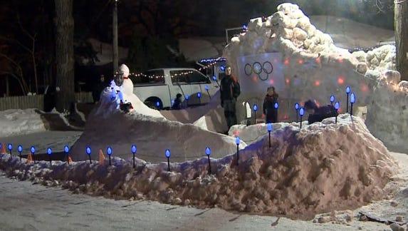 Minnesota family makes ice luge track