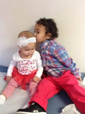 Gia Lloyd, 1, and Gabriano Lloyd, 2.