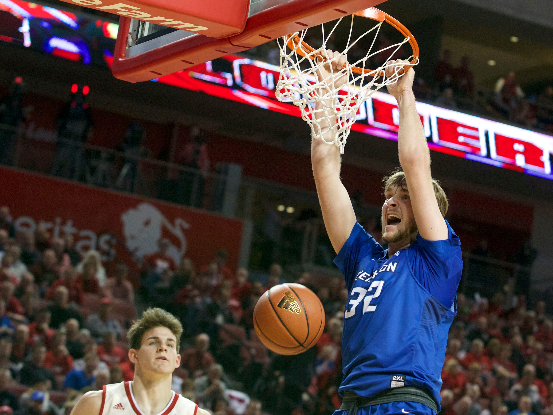 Creighton forward Toby Hegner played a Berlin High School in Berlin, Wisconsin, and holds the record in points and rebounds there.