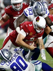 Arizona Cardinals quarterback Carson Palmer (3) is