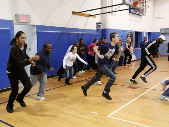 Jeff London helps train people with disabilities at the Boys & Girls Club in New Rochelle.