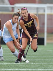 Jessica Seay breaks away for a drive against Tufts