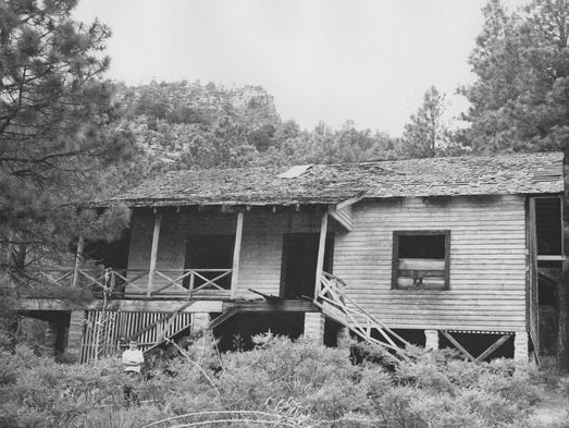Zane Grey's cabin in Arizona in an undated file photo.
