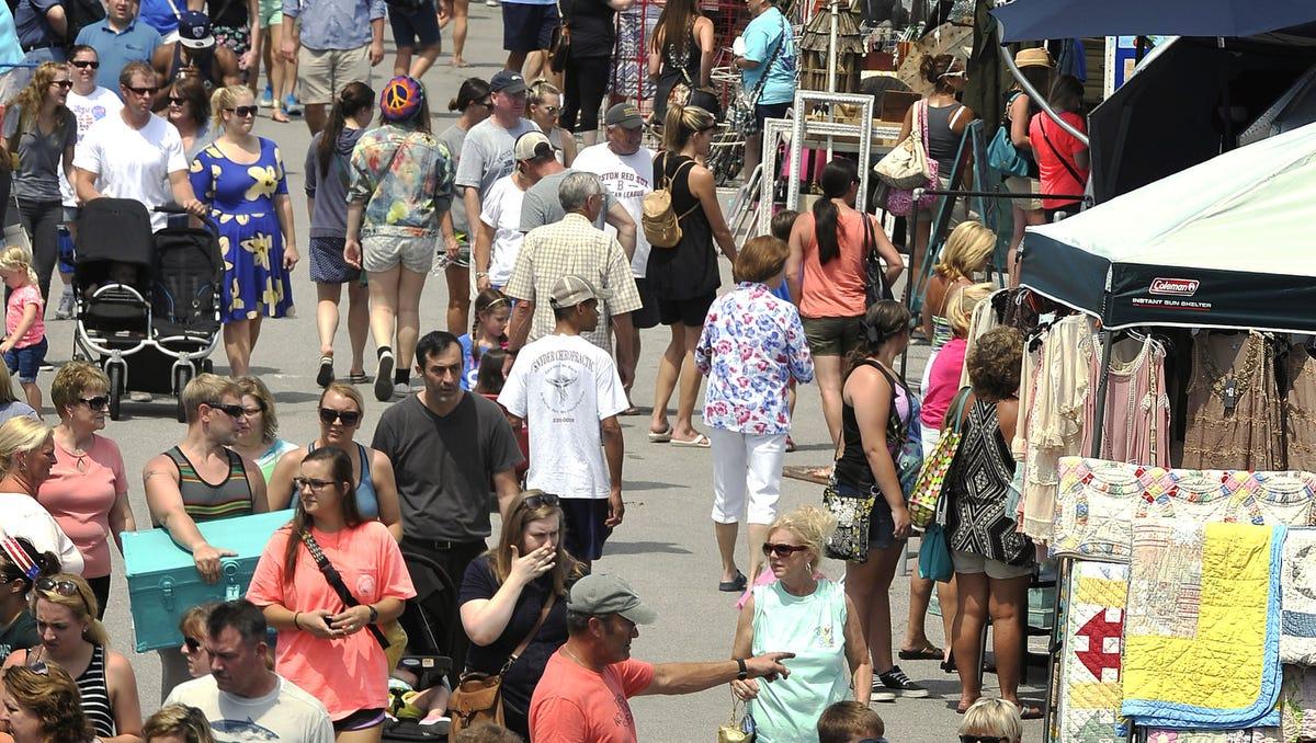 Crowds flock to the Nashville Flea Market at The Fairgrounds Nashville.