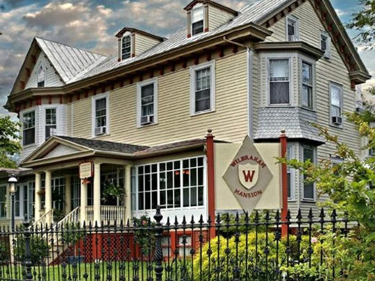 The Wilbraham Mansion, a Victorian originally built in 1840, is a bed and breakfast in Cape May