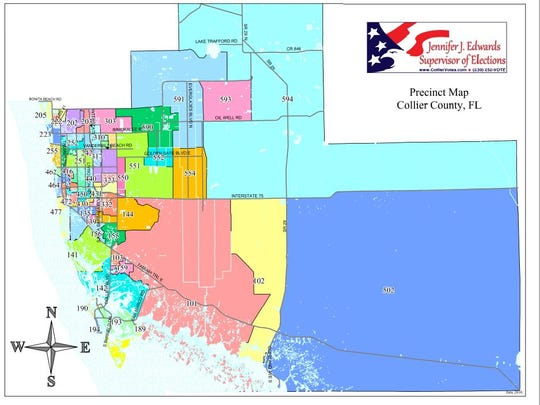 This is a map of Collier County's 60 election precincts.