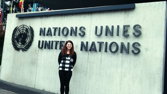 Newark resident Helena Stephenson traveled to Geneva, Switzerland on April 4 to speak at the United Nations for World Autism Awareness Day. Stephenson has autism and is an advocate for others on the spectrum.