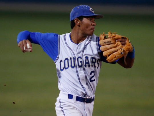Jacob Gatewood as a member of the Clovis baseball team.