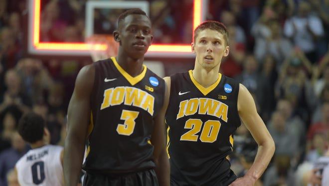 Peter Jok, Jarrod Uthoff will fill major roles for Iowa's basketball team in 2015-16.