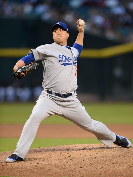 USP MLB: LOS ANGELES DODGERS AT ARIZONA DIAMONDBAC S BBN ARI LAD USA AZ