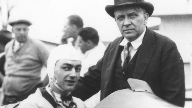 L.L. Corum with Fred Duesenberg
