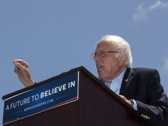 Democratic presidential candidate Sen. Bernie Sanders, I-Vt., speaks during a campaign rally.