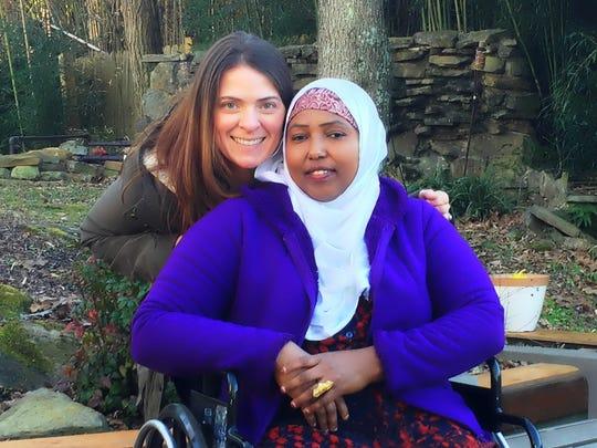 Jamie Jones and Asha Ibrahim in 2012.