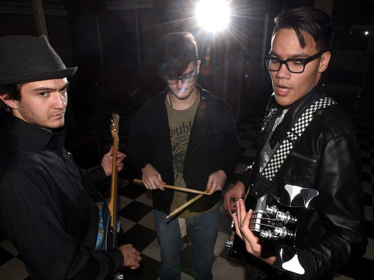 Rhett Rybacki, left, Isaac Moore and Isaiah Sebastian of the Deadbeats are looking forward to the release of their debut album later this winter.