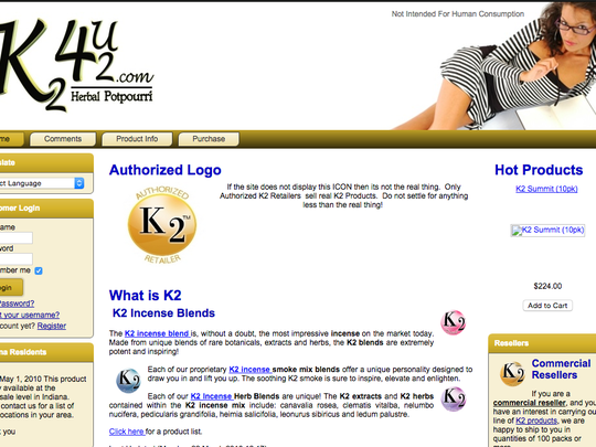 Roger Upchurch, who has agreed to plead guilty to federal charges, used this 2010 website to sell synthetic marijuana.