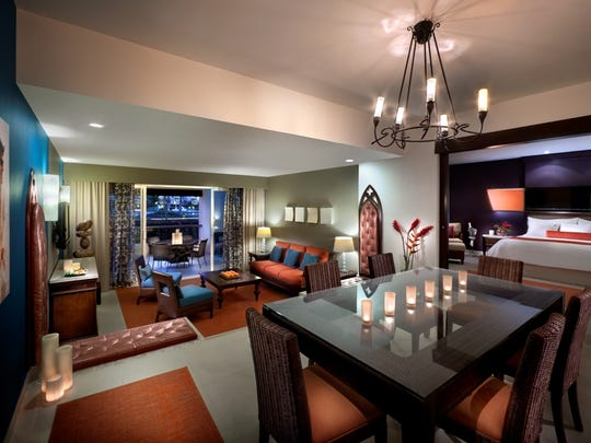The presidential suite at the Hard Rock Hotel and Casino.