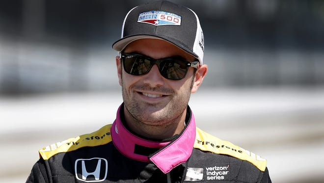Michael Shank Racing-Andretti Autosport IndyCar driver Jack Harvey (50) during practice for the Indianapolis 500  Monday, May 15, 2017, afternoon at the Indianapolis Motor Speedway.
