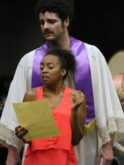 Peter Saide as John Jasper and Rachael Ferrera as Rosa