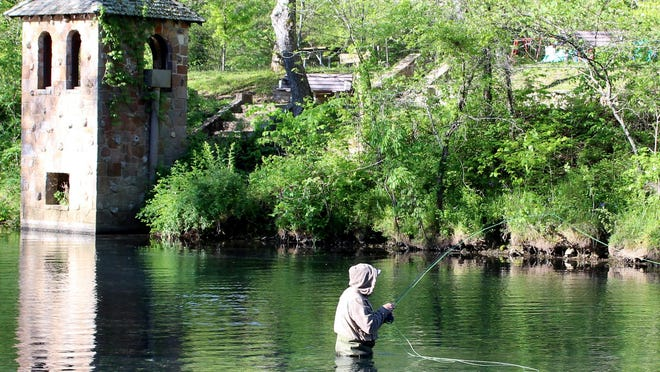 Cold, clear trout stream water can feel refreshing on a hot summer day.