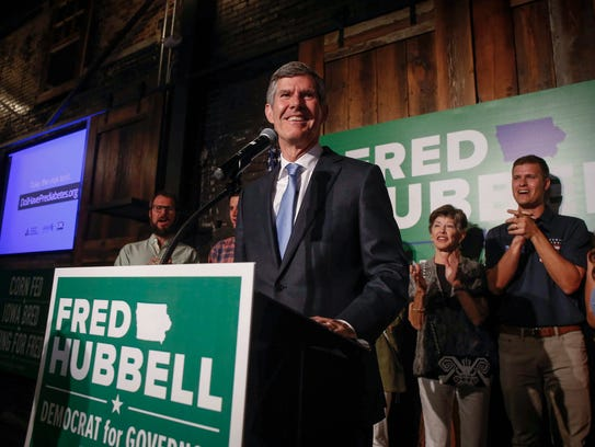 Iowa democratic candidate for governor Fred Hubbell