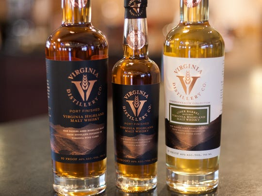 The products of the Virginia Distillery Company blend