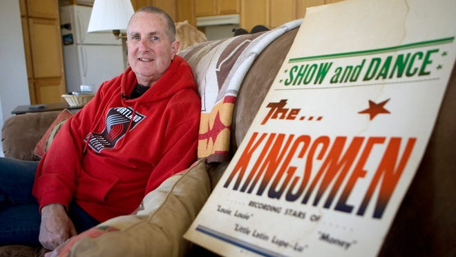 Jack Ely, co-founder of the early 60's band The Kingsmen and best known for his 1963 rendition of the song 'Louie, Louie,' poses for a photo at his home  in 2009.