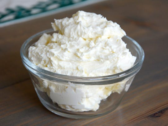 Making this mock Devonshire cream takes about 5 minutes.