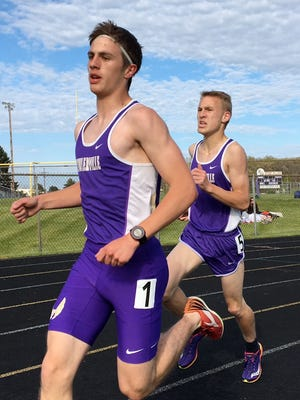 Fowlerville's Chris Davis won the 1,600 and 3,200 against Williamston.