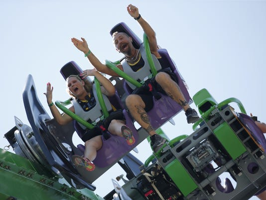 The Joker roller coaster at Six Flags Great Adventure