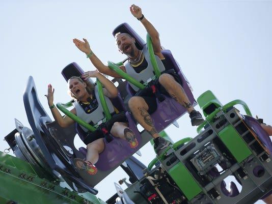Joker roller coaster at Six Flags Great Adventure