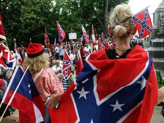 Pro-Confederate flag rally