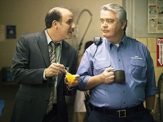 "NIck Sandow (left) and Michael J. Harney on ""Orange"