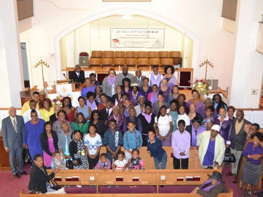 Bethel Baptist Church members pose for a photo on the