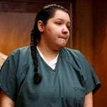Mercedes Alvarado, 25, enters the courtroom for her sentencing at the Marion County Courthouse in Salem on Tuesday, June 30, 2015. Alvarado was sentenced to ten years, with three years of post-prison probation for manslaughter in the 2013 death of her 3-year-old daughter, Aniya Zamora.