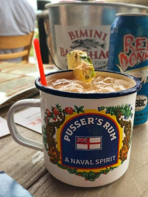 A Pusser's Painkiller from Bimini Bait Shack in Punta Rassa.