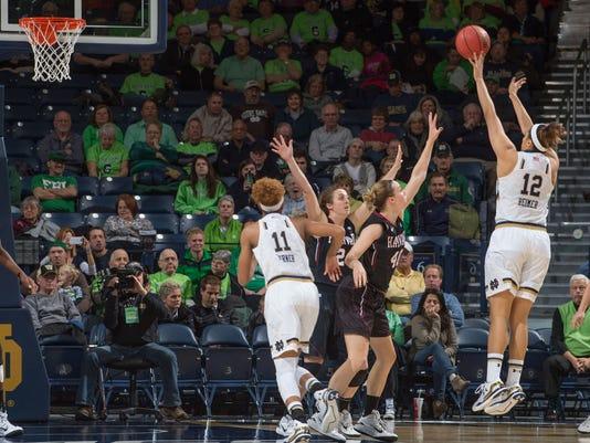NCAA Womens Basketball: Harvard at Notre Dame