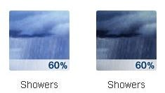 There is a chance for rain on and off throughout the day Thursday.