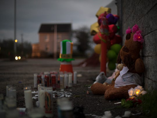 Friday, March 31, 2017: The remnants of a vigil held at Cameo nightclub earlier in the week sit outside of the nightclub's doors, where 16 people were wounded and one person was killed in a gun fight early Sunday morning.