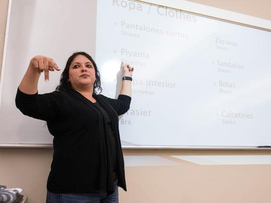 Linda Lugo, a Del Mar College adjunct instructor who