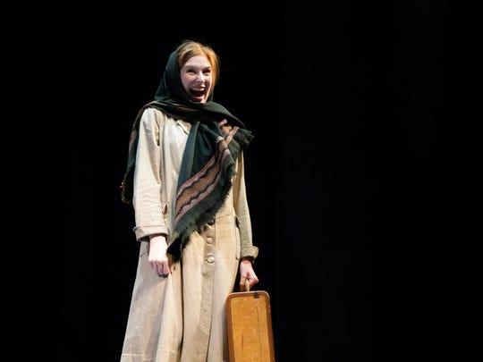 """Margaret Leisenheimer stars as Agnes in the Binghamton University production of """"Castle on the Hill."""""""