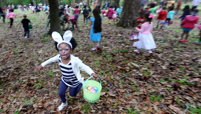 Tallahassee will hold its annual Easter Egg Hunt at Myers Park on Sunday.