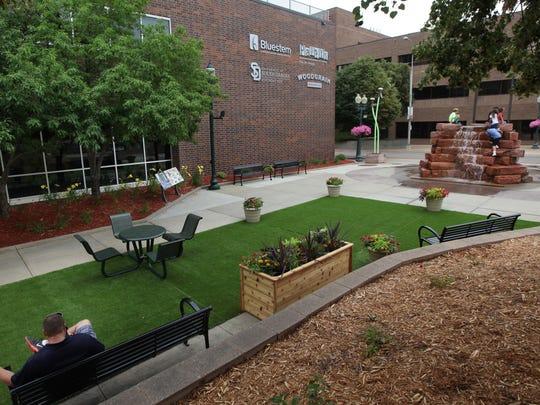 Phillips Avenue Plaza pop-up park