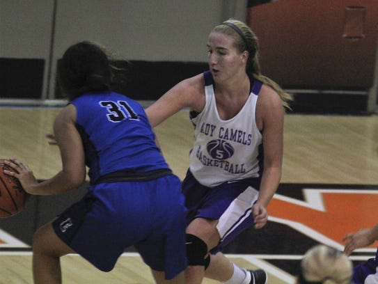 Campbell County senior Mackenzie Schwarber tries to